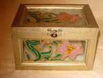 Glass Floral Box