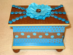 Turquoise Dots Box