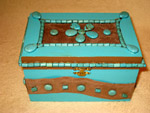 Turquoise Suede Box