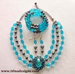Aqua Glamour jewellery set