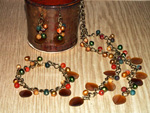 Autumn Foliage jewellery set