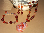Carnelian Autumn jewellery set