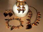 Golden Leaves jewellery set