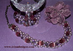 La Vie en Mauve jewellery set