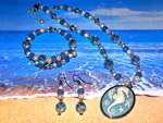 Ocean Cameo Jewellery Set
