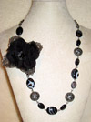 Onyx Rose Necklace