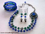 Peacock Elegance jewellery set