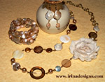 Pearls and Shells jewellery set