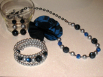 Royal Blue Flower Jewellery Set