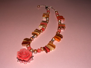 Sunkissed Rose Necklace