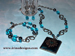 Teal Mystique jewellery set