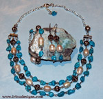 Turquoise Pearl Dream jewellery set