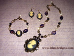 Violet Cameo jewellery set