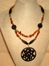 Wooden Lace Necklace